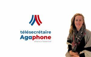 Photo de Sylvie Rippe avec logo Agaphone