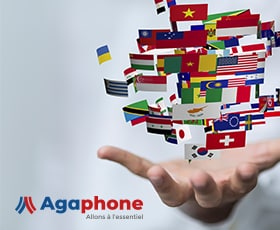 Visuel pour site multilingue Agaphone