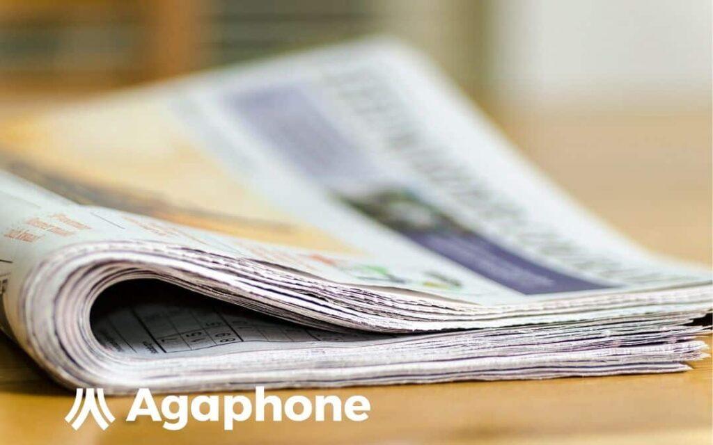 Visuel représentant des journaux pour article blog Agaphone